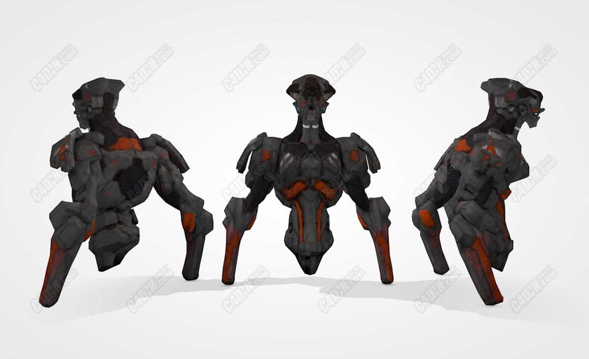 C4D机器人半身像模型