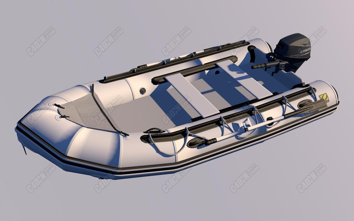 C4D精品充气船模型 Inflatable boat model