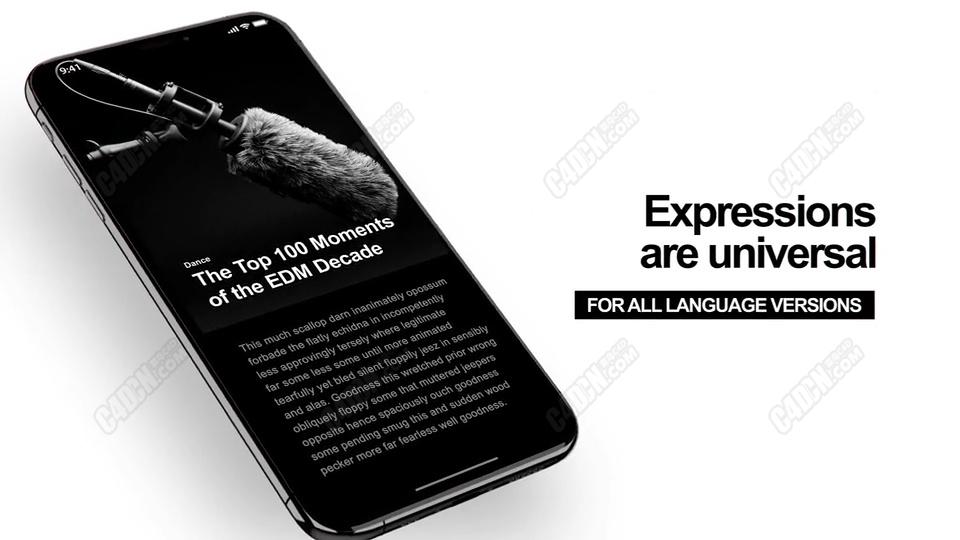 AE E3D三维插件手机数码产品宣传片模板