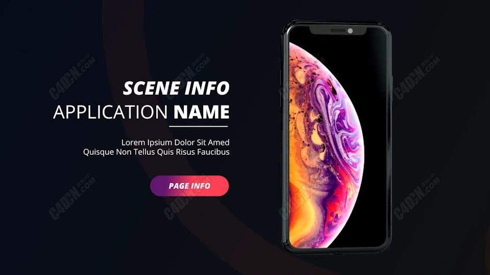 苹果XS手机图文展示宣传AE模板