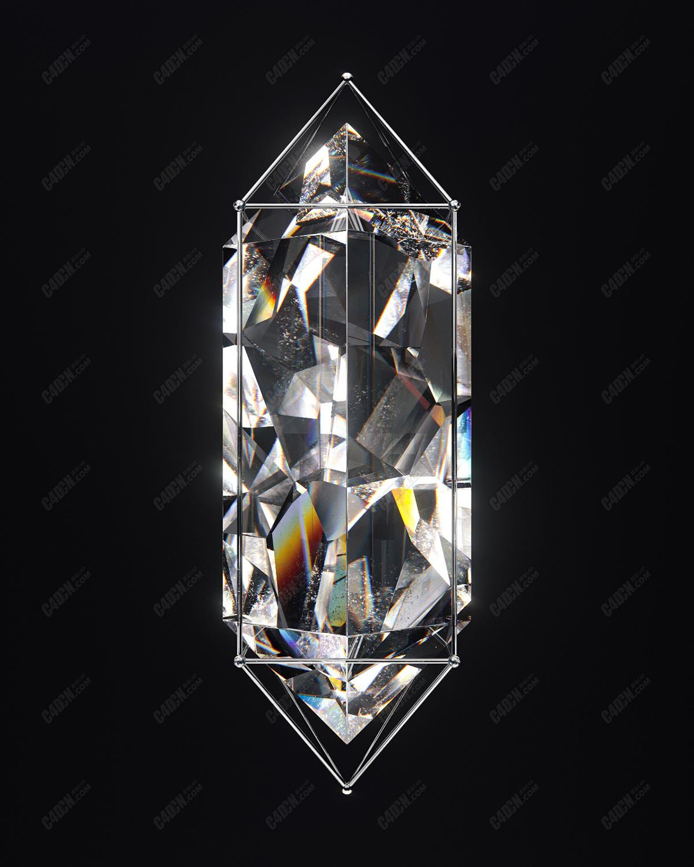 水晶c4d-redshift