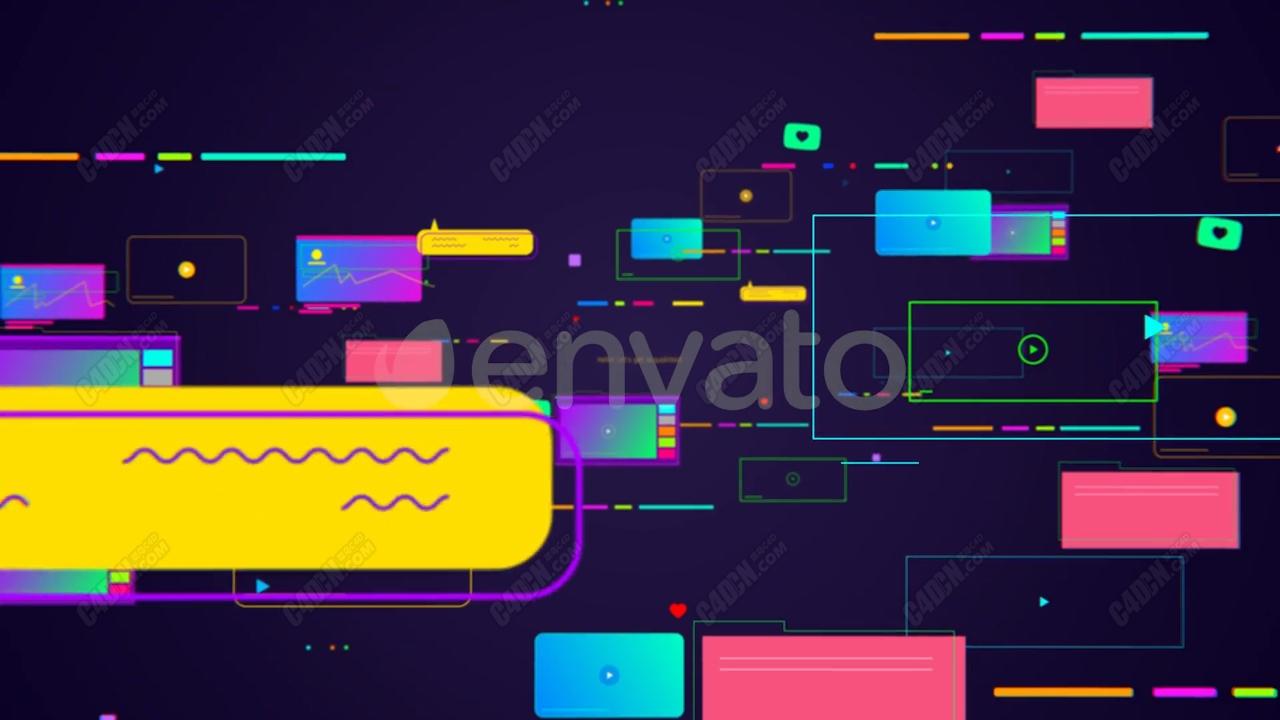 AE多彩绚丽时尚网络视频包装模板