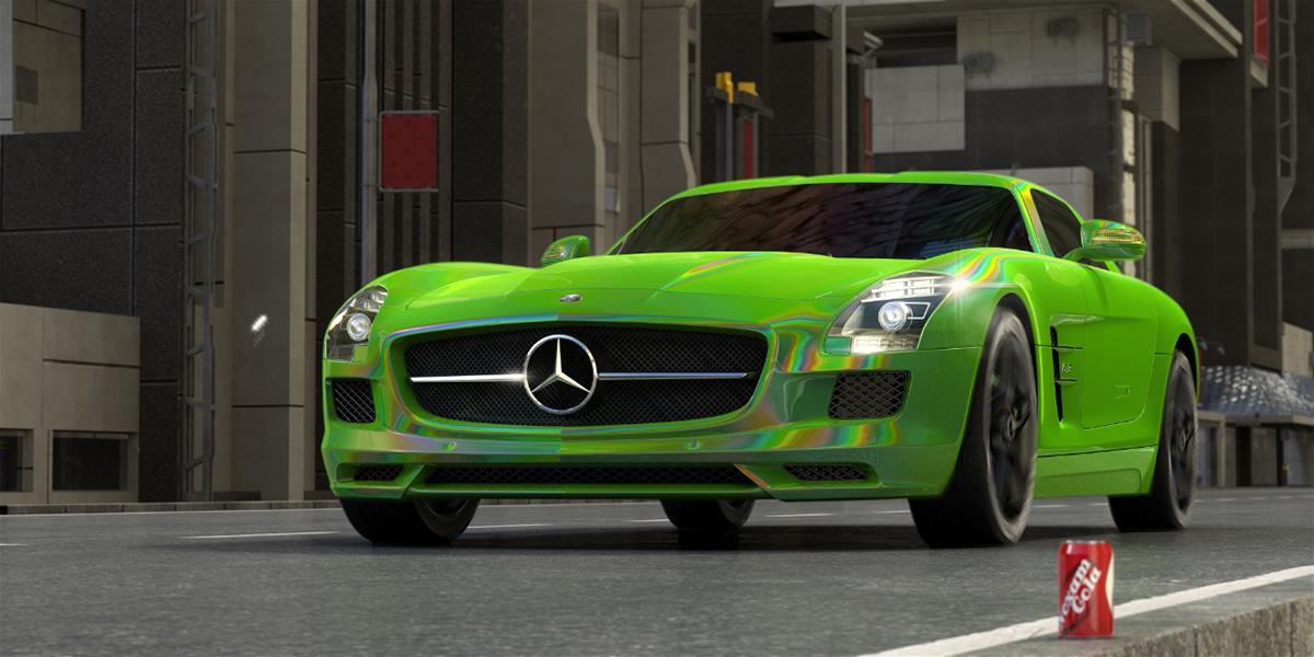 Mercedes SLS AMG 城市公路场景.jpg