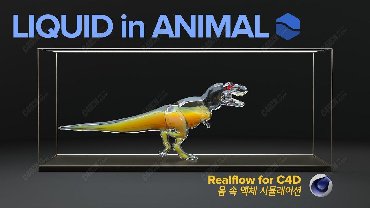 C4D容器内液体模拟动画RealFlow插件教程