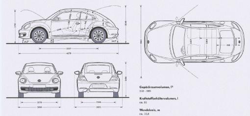 奥迪A4和大众甲壳虫的建模三视图高清