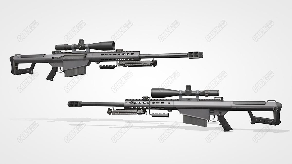 C4D狙击步枪模型