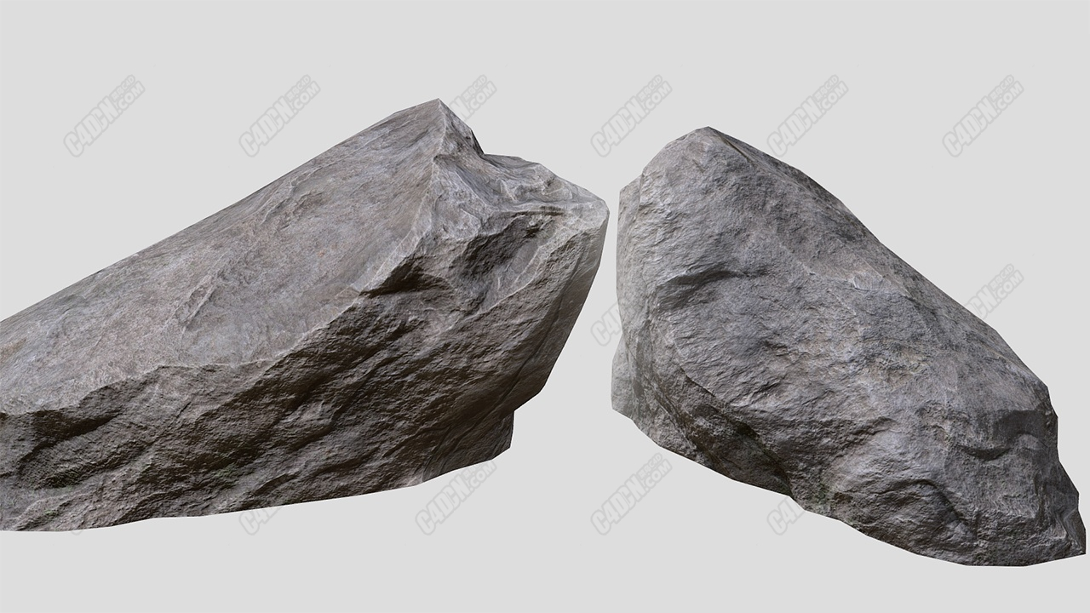 C4D写实石头岩石模型 Rock model