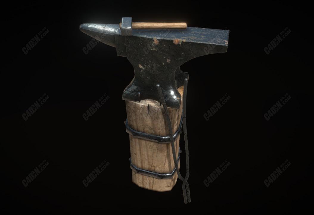 C4D模型-铁匠的锤子