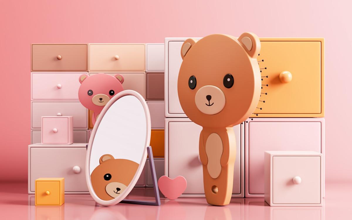 Teddy bear air cushion comb
