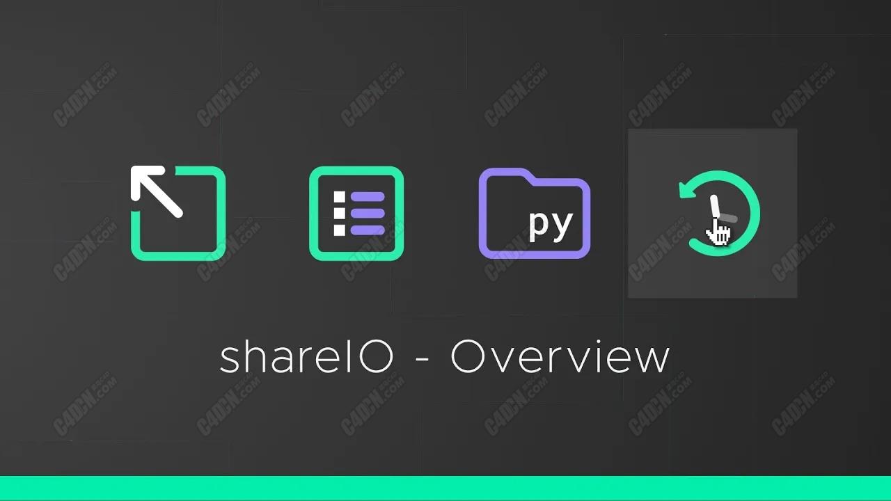 C4D工程渲染设置管理插件 Aescripts shareIO v1.10