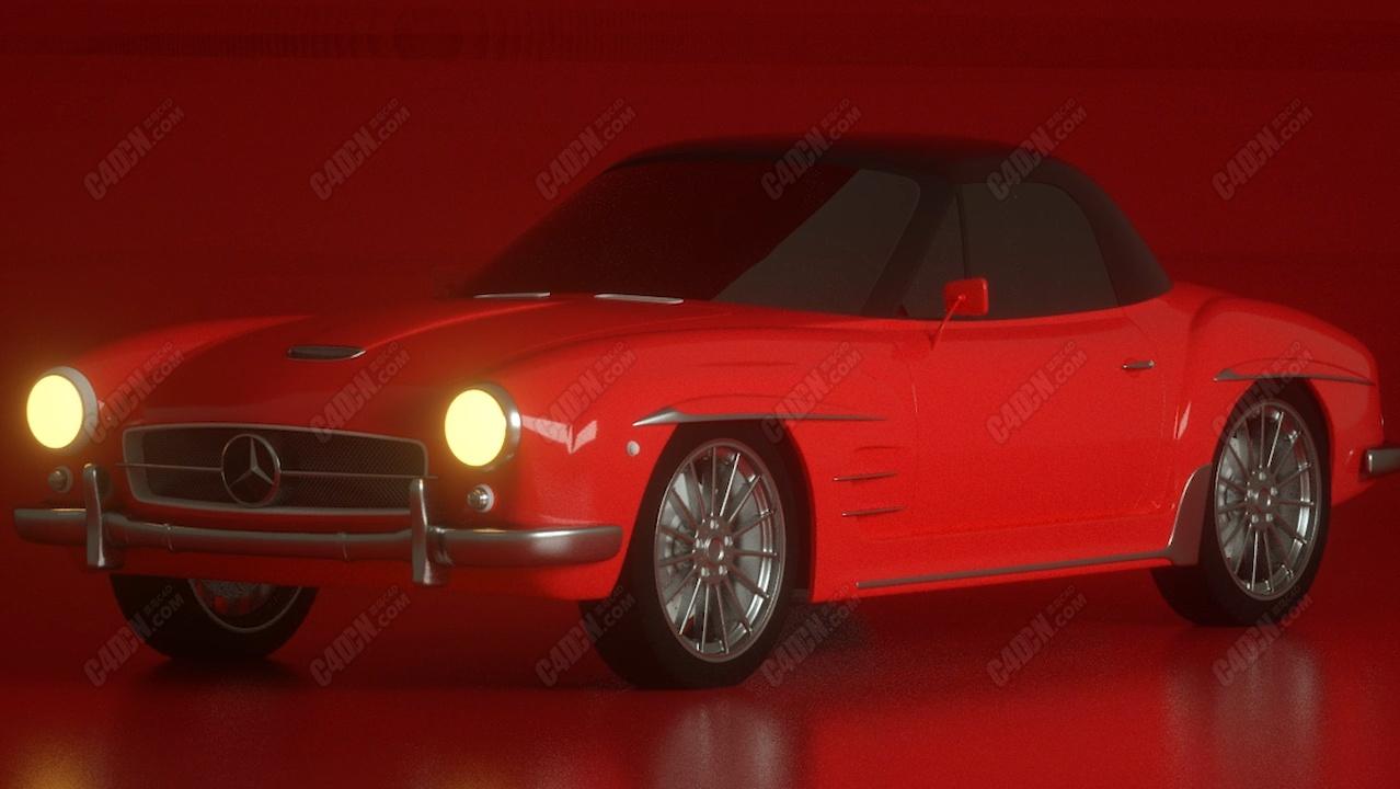 C4D+Octane渲染器制作汽车漆材质HDR渲染教程