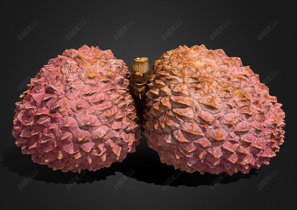 C4D水果荔枝模型