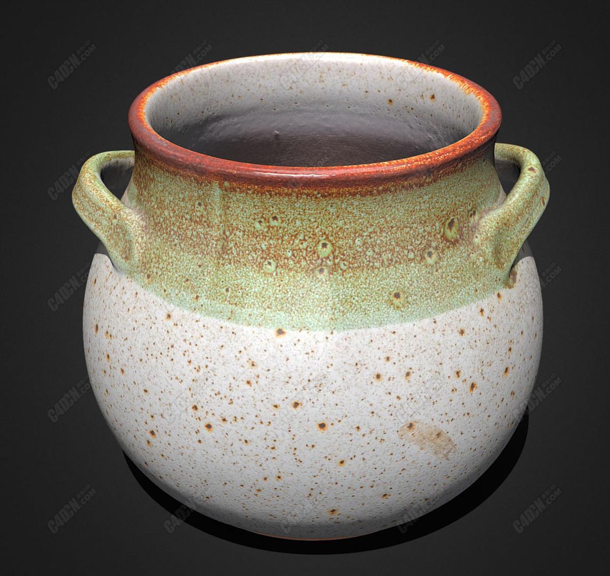 C4D陶瓷器皿模型-花瓶 vaso