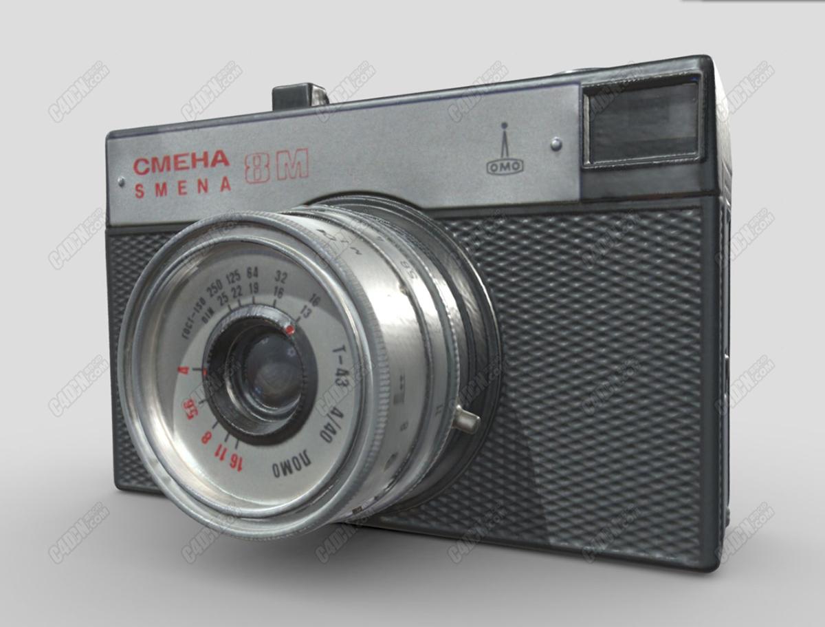C4D Smena 8M胶片相机模型