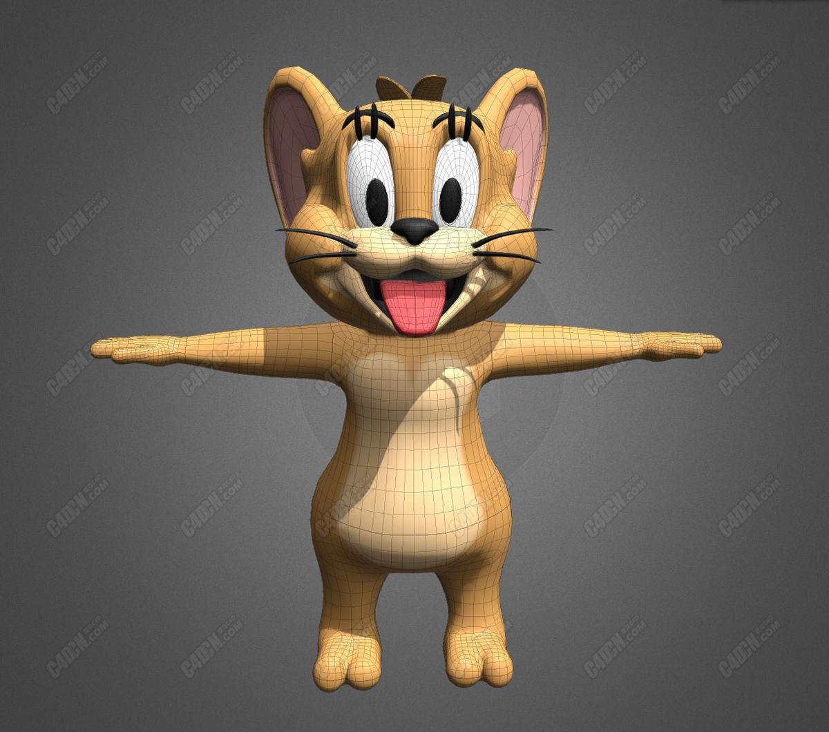 C4D动画片猫和老鼠杰瑞模型