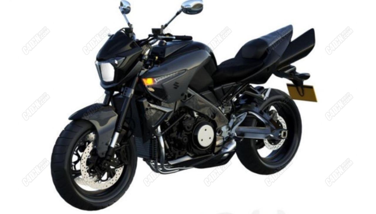C4D铃木B-KING摩托车模型(白模无材质)