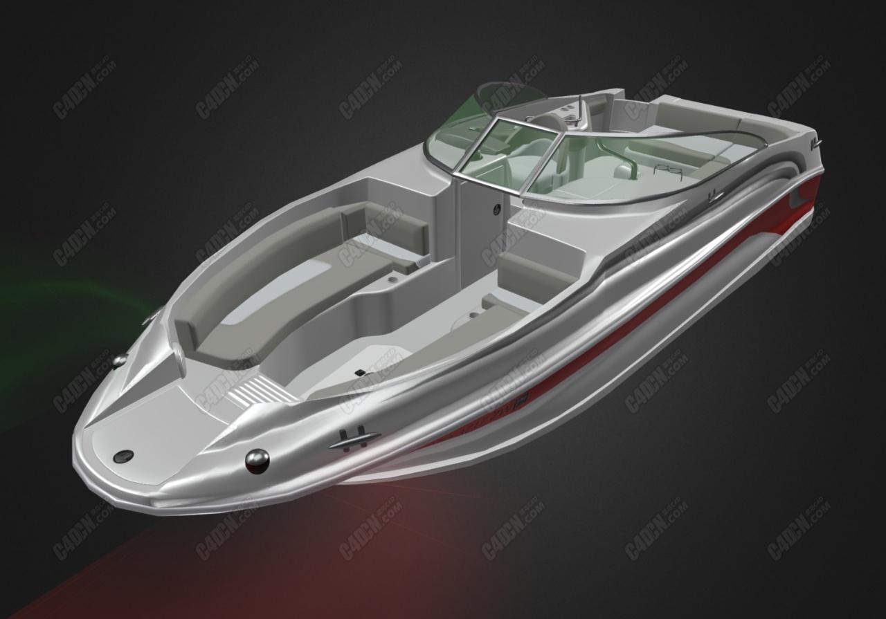 C4D海雷游艇快艇船模型 Sea Ray