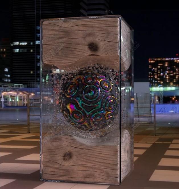 C4D玻璃材质储水箱循环气泡动画OC渲染器教程