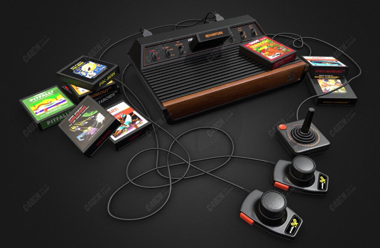 Atari 2600游戏主机C4D模型
