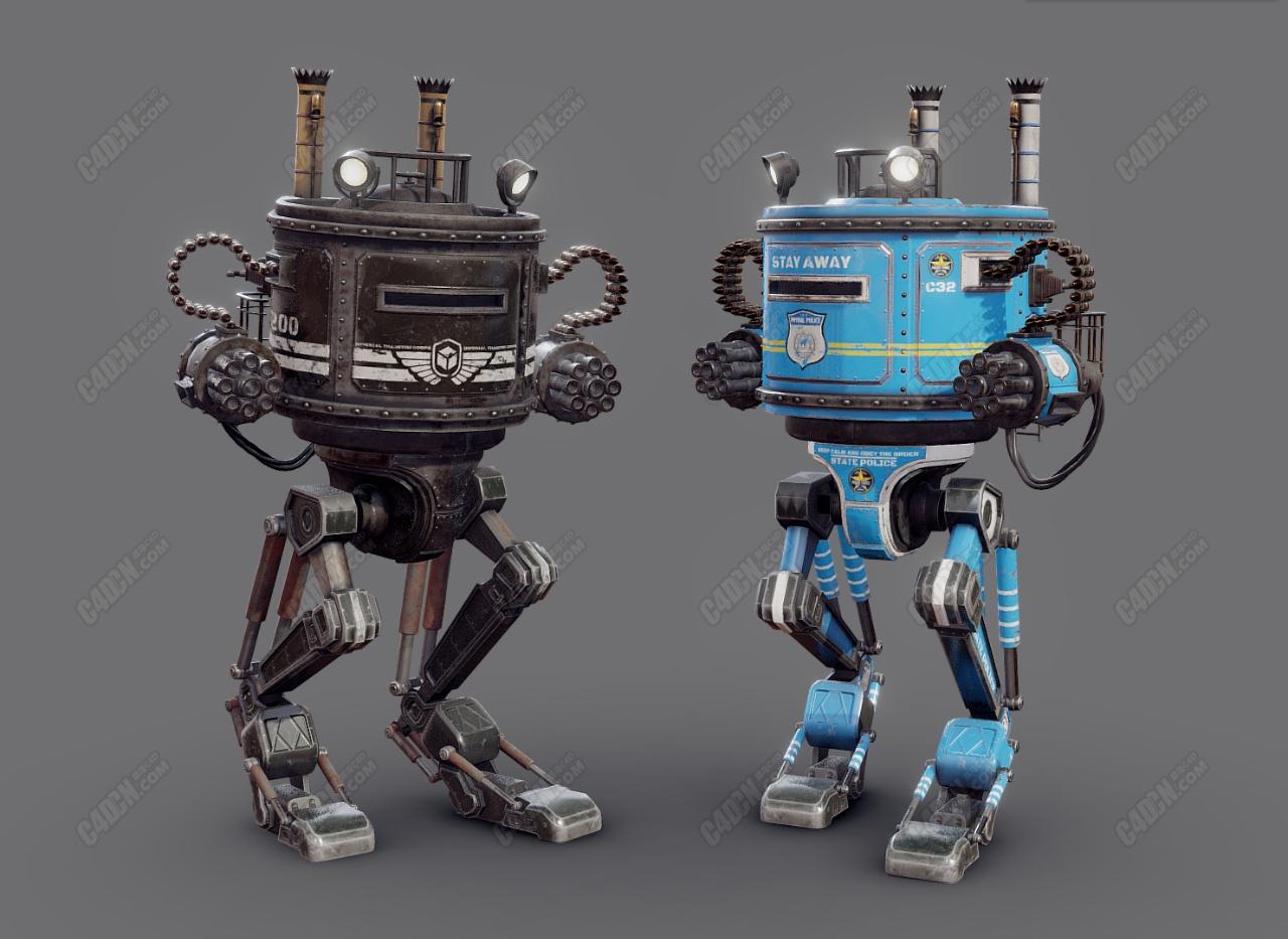 T200 Dieselpunk机械机器人C4D模型