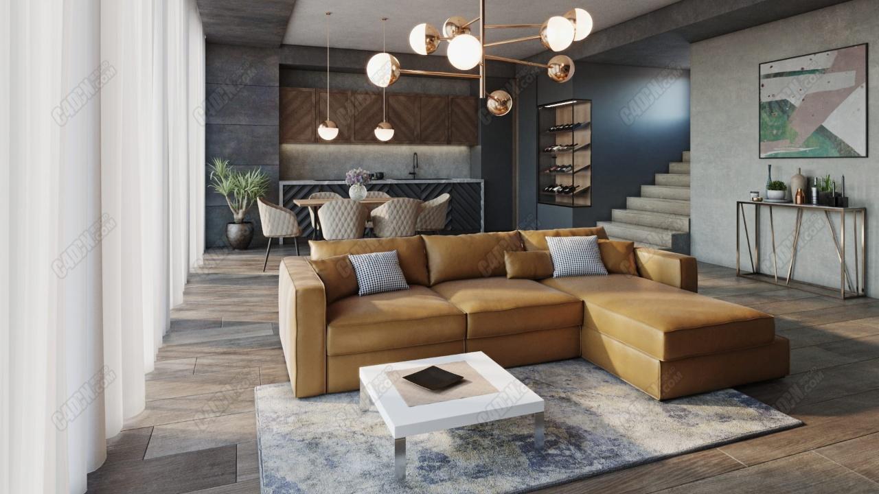 20组高精度室内家具沙发组合家具模型