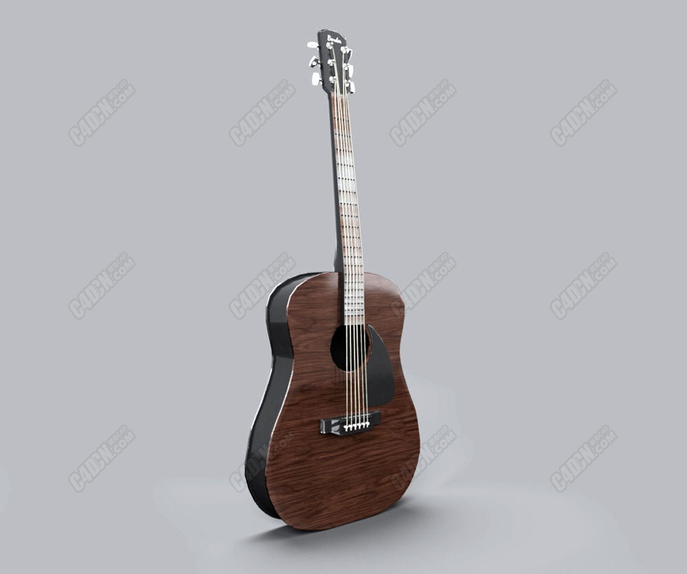 C4D古典吉他音乐模型 CLASSIC GUITAR