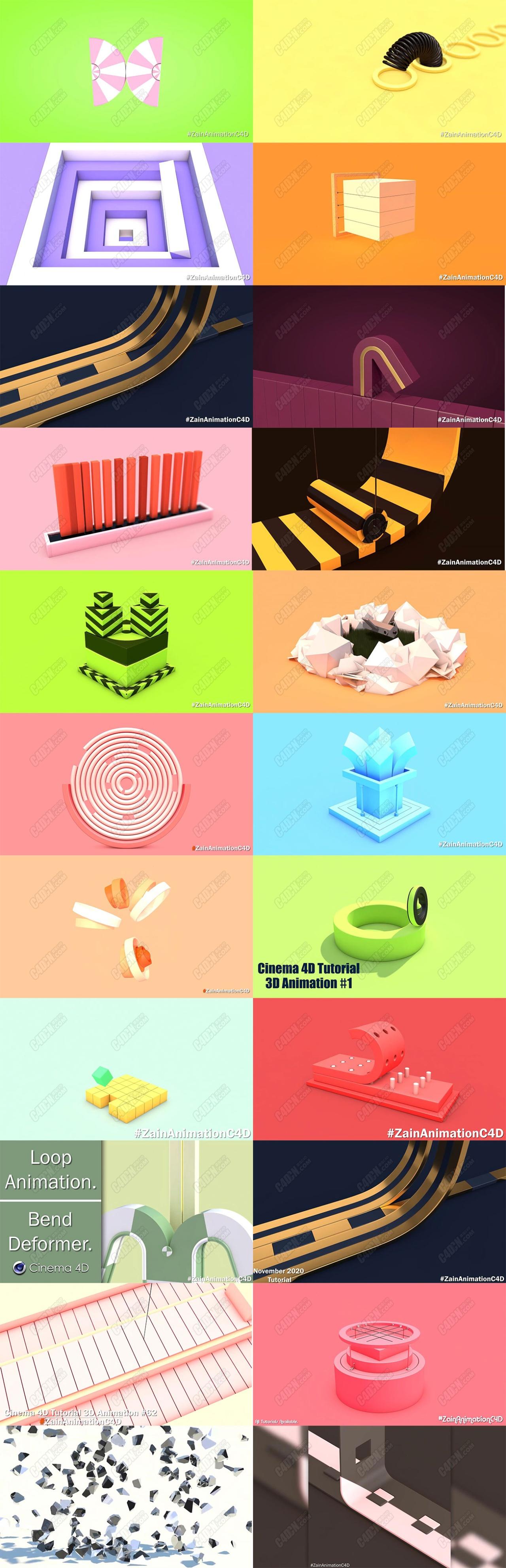 100多個運動圖形創意動畫小教程適合新手入門學習打牢基礎