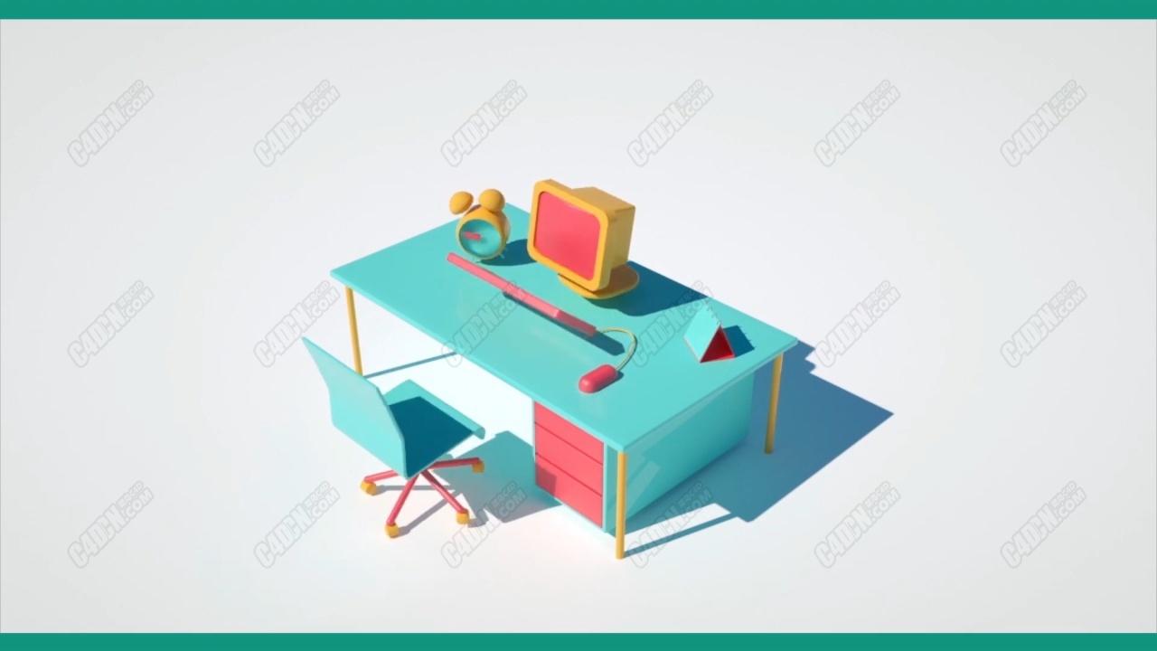 C4D三维模型栏目包装物体变幻动画合成教程(使用Octane渲染器)