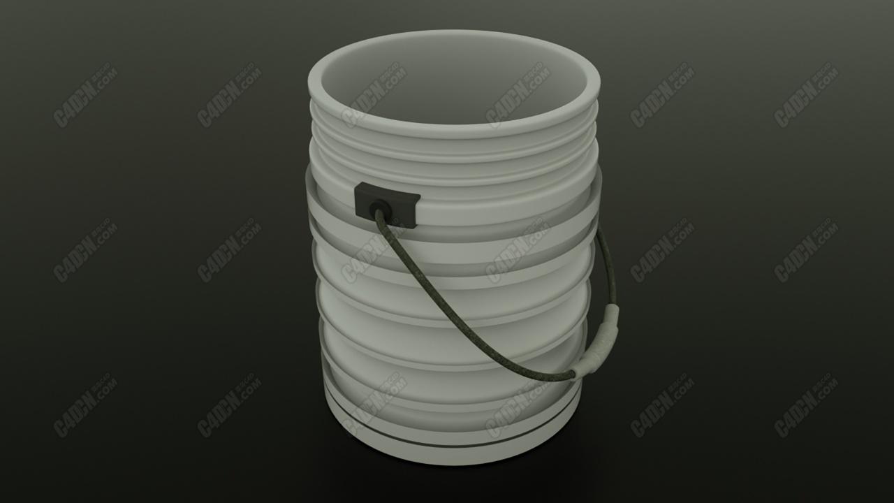 免费C4D简单水桶模型