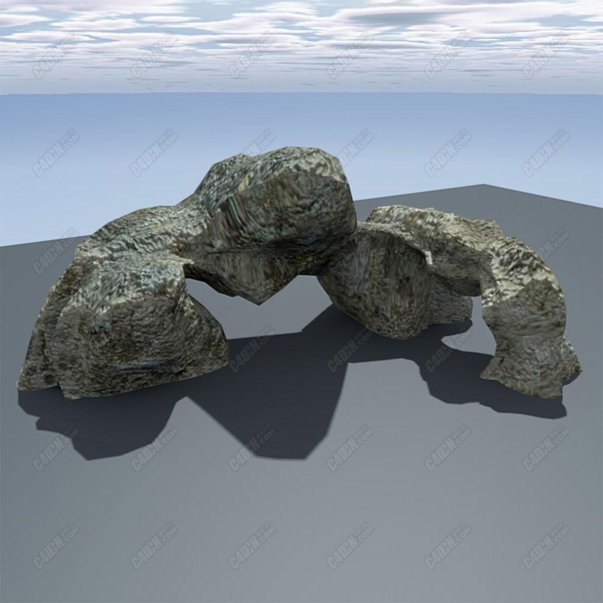 C4D模型整块巨大假山演示观赏岩下载