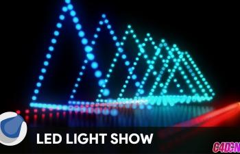 C4D教程:LED动态灯光制作