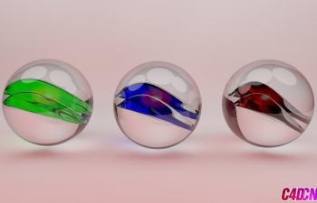 C4D玻璃珠玻璃球玻璃透明材质渲染C4D教程 How to Create glass materia