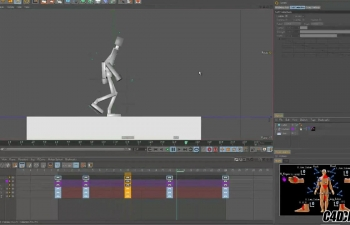 C4D IK&FK绑定制作人物走路动画教程