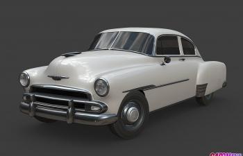 老爷车汽车C4D模型 chevrolet Fleetline 1951