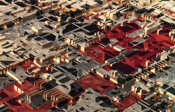 C4D模型 Redshift渲染器金属纹路电路板工程文件