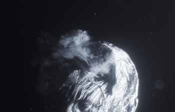 C4D Octane渲染器工程 冰霜云雾的男人头像