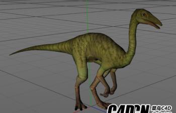 恐龙绑定带动作模型02