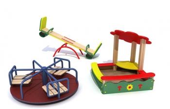 3D模型08幼儿园儿童娱乐设施玩具