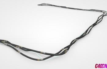 C4D模型 33 专业电缆线模型 Cable