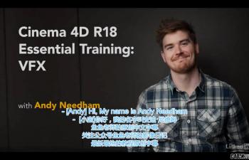 鱼鱼老师第七套中文字幕教程跟踪反求摄像机投射特效C4D教程 Lynda – CINEMA 4D R18 Essential Training: VFX