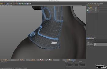 CINEMA 4D教程——日常三维建模实习工作流程:拓补与重塑