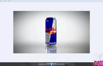 C4D教程 红牛饮料包装罐纹理材质渲染教程