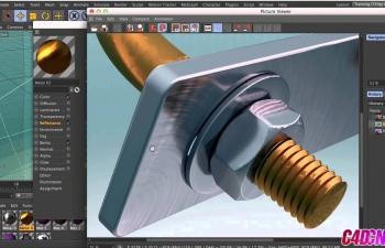 Cinema 4D R16新材质系统布料金属材质调试渲染C4D教程