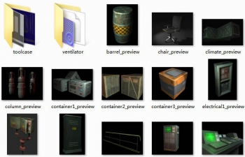 全三维格式科幻工业场景模型包(每种模型具备多种格式,包括C4D)