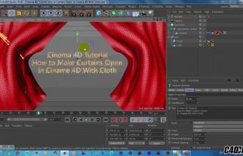 C4D+AE制作布料帷幕拉开教程