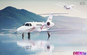 C4D模型 小型客机飞机模型