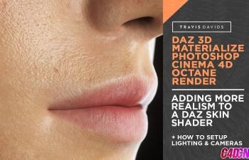 Octane渲染器逼真写实人体皮肤材质渲染C4D教程