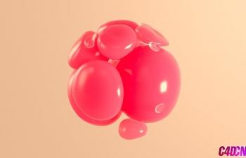 C4D教程 柔体动力学模拟抽象球体旋转教程