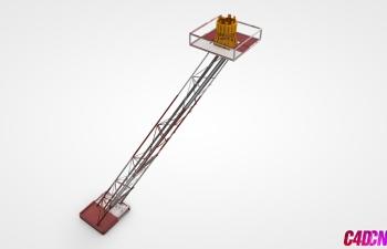 C4D模型 56 起重机机械臂模型 Crane