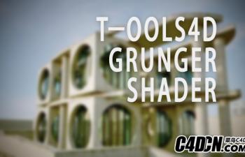 C4D边缘污渍插件汉化版 Tools4D Grunger Rander v1.4